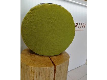 Meditační polštář - zelený s modrým úchytem