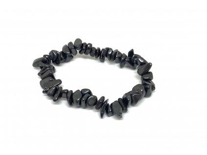 Náramek z tromlovaných kamenů - hematit