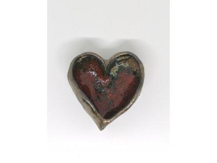 BAUBO Keramická miska na vykuřování (srdce červené)