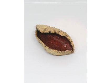 BAUBO Keramická miska na vykuřování (mušlička červená)