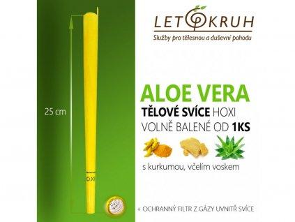 HOXI Tělová svíce s Aloe Vera