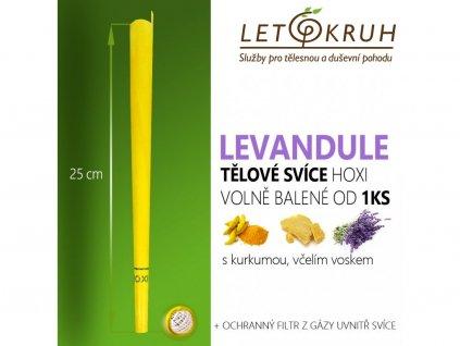 HOXI Tělová svíce s Levandulí
