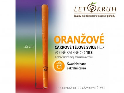 HOXI Čakrová tělová svíce Oranžová