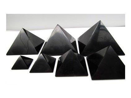 Šungitová pyramida 5x5