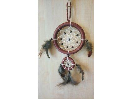 Lapač snů - hnědý, 11,5 cm