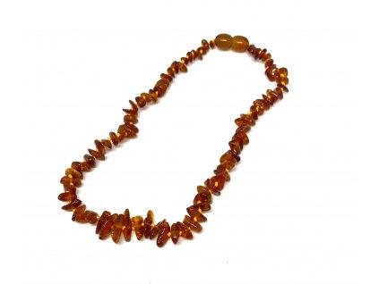 Jantarové korálky pro děti - náhrdelník