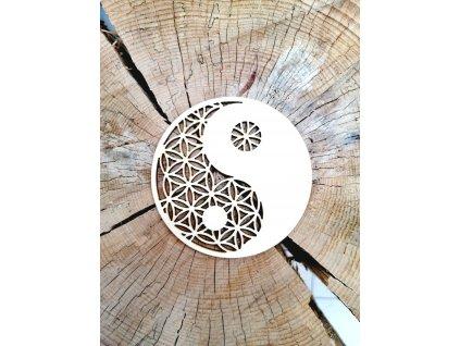 Dřevěný podtácek - Jin Jang