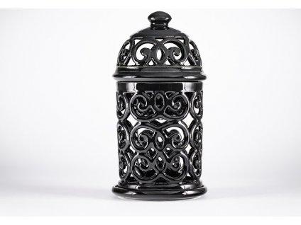 Aromalampa vyřezávaná Černá