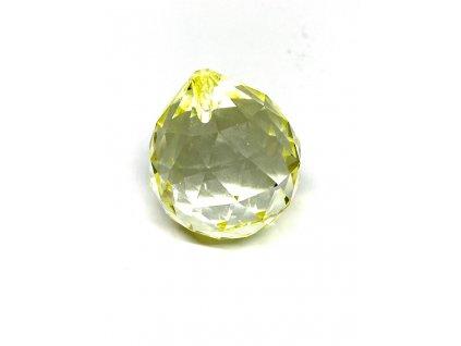 Křišťálová žlutá koule na zavěšení - 40 mm