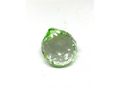 Křišťálová zelená koule na zavěšení - 40 mm