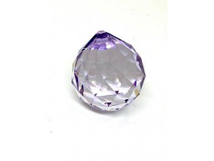 Křišťálová fialová koule na zavěšení - 40 mm