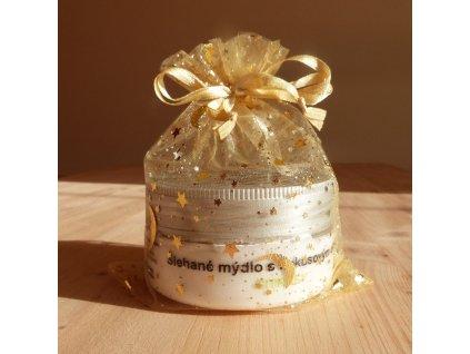 Libebit Šlehané mýdlo v dárkovém pytlíčku - kokos. olej, sůl z Mrtvého moře