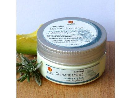 Libebit Šlehané mýdlo - Avokádo. olej, Tea tree a bylinky