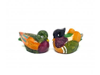 Soška Mandarínské kachničky - barevné, 3cm