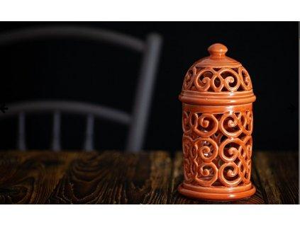 Aromalampa vyřezávaná Korálová