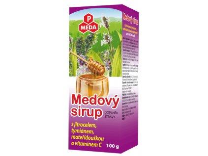 PM Medový sirup s jitrocelem, tymiánem, mateřídouškou a vitamínem C, 100g