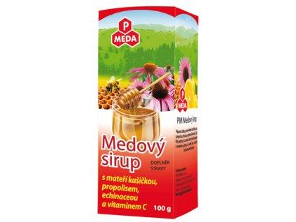 PM Medový sirup s mateřídouškou, propolisem, echinaceou a vitamínem C, 100g