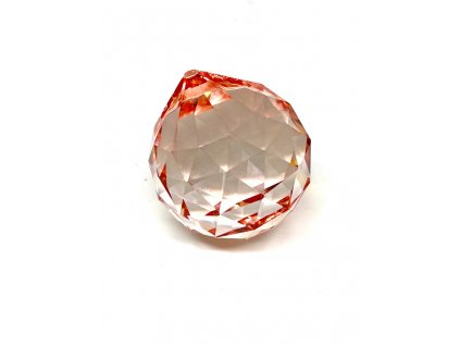 Křišťálová červená koule na zavěšení - 40 mm
