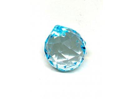 Křišťálová sv. modrá koule na zavěšení - 40 mm