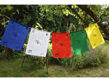 Tibetské modlitební praporky Lungta 23x16 cm (10ks)