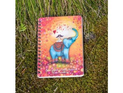 Zápisník A6 Lapač nápadů Slon - čistý