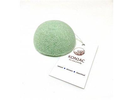 Konjac - Světle zelená houbička na obličej, bochánek