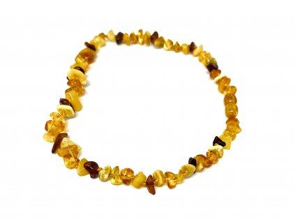 Jantarové korálky pro děti - náhrdelník (mix světlý a tmavý)