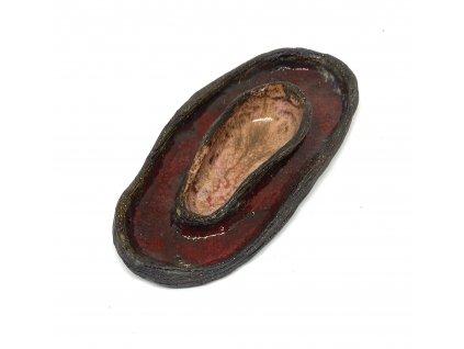 BAUBO Keramická miska na vykuřování (červenorůžová)
