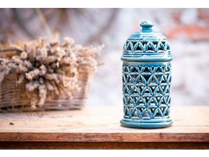 Aromalampa Květ života Modrá
