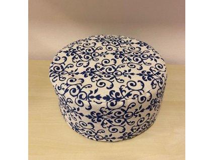 Meditační polštářek pohankový - s modrými vzory