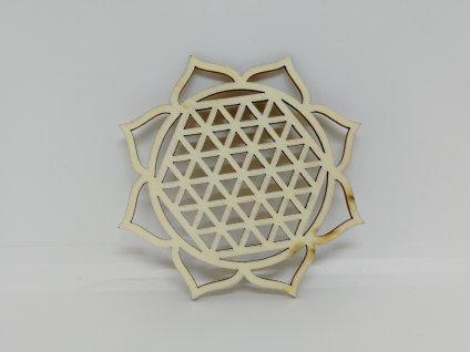 Dřevěný podtácek - Mandala s květem života