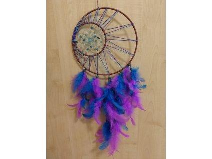 Lapač snů fialovomodrý, 20 cm