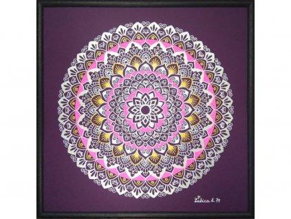 Obraz Mandala Smíření, ručně malovaná 30x30cm