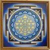 Obraz Mandala Šrí Jantra Blue krystal 30x30cm