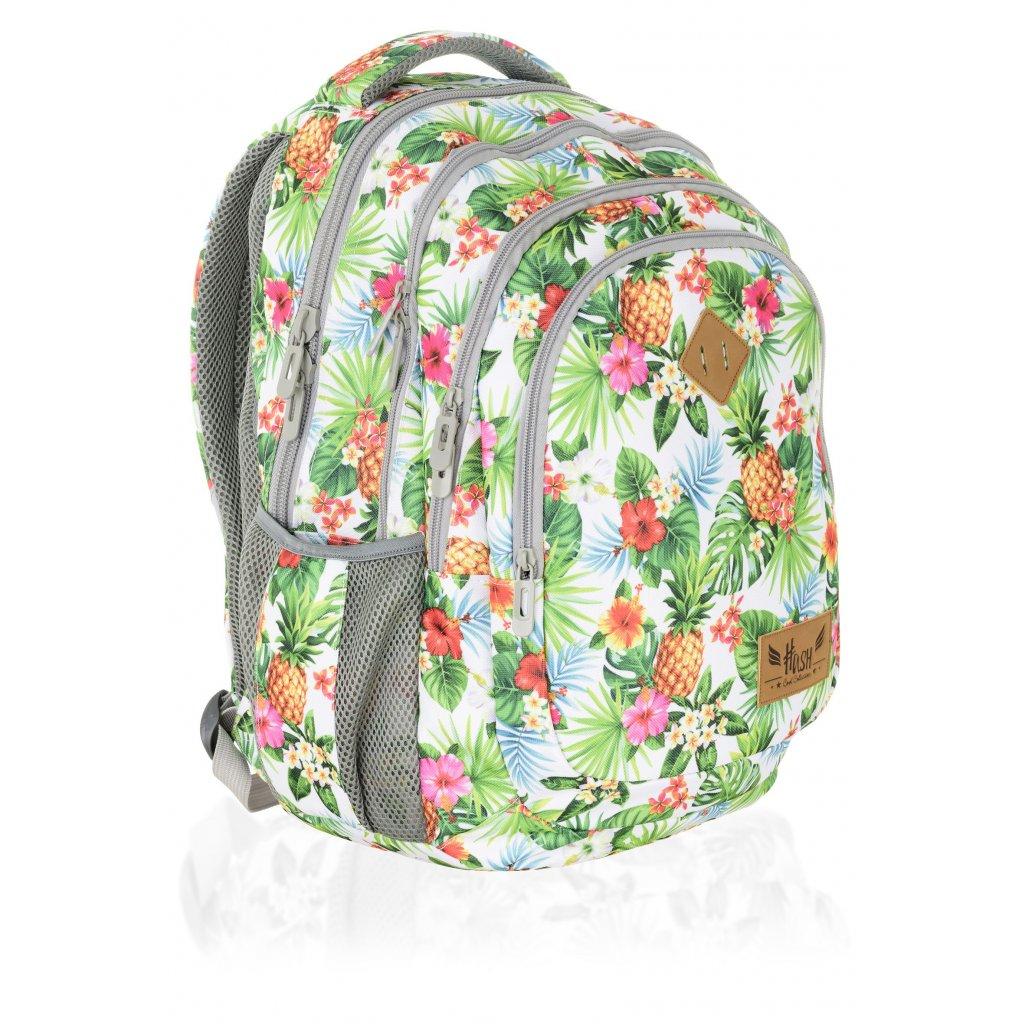 Čtyřkomorový školní batoh HS-07 Hash