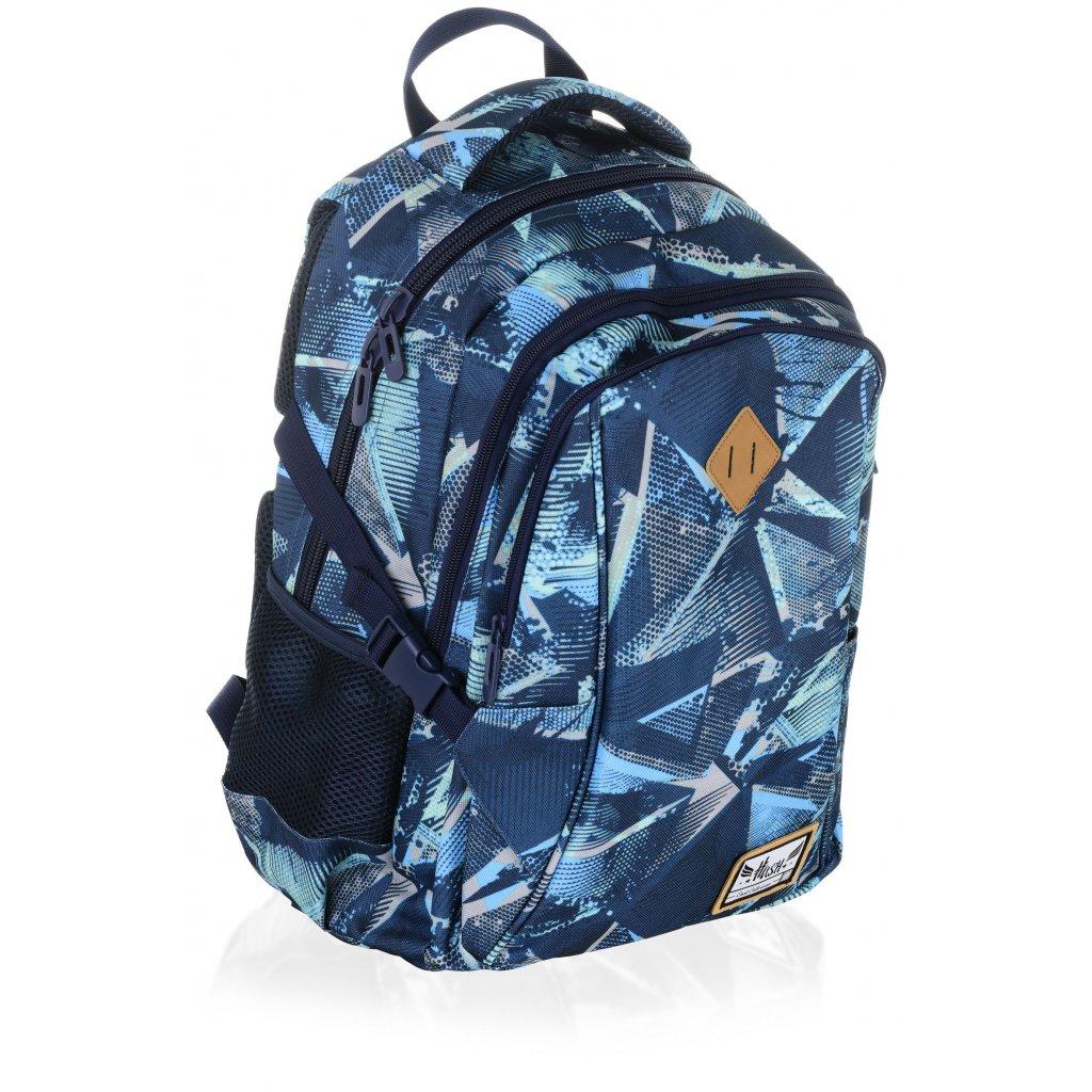 Tříkomorový školní batoh HS-17 Hash