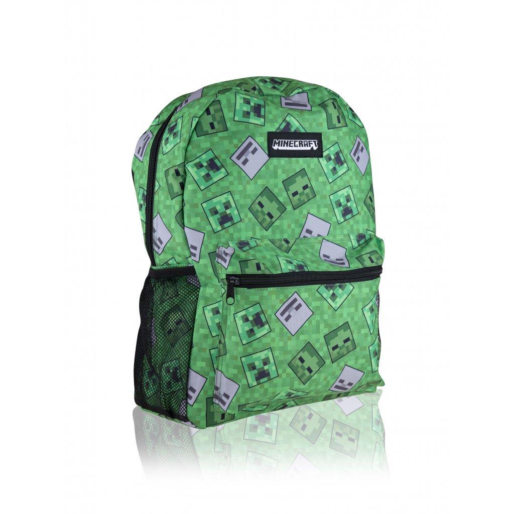 MINECRAFT 4dílná sada (studentský batoh, box na svačinu, lahev, penál)