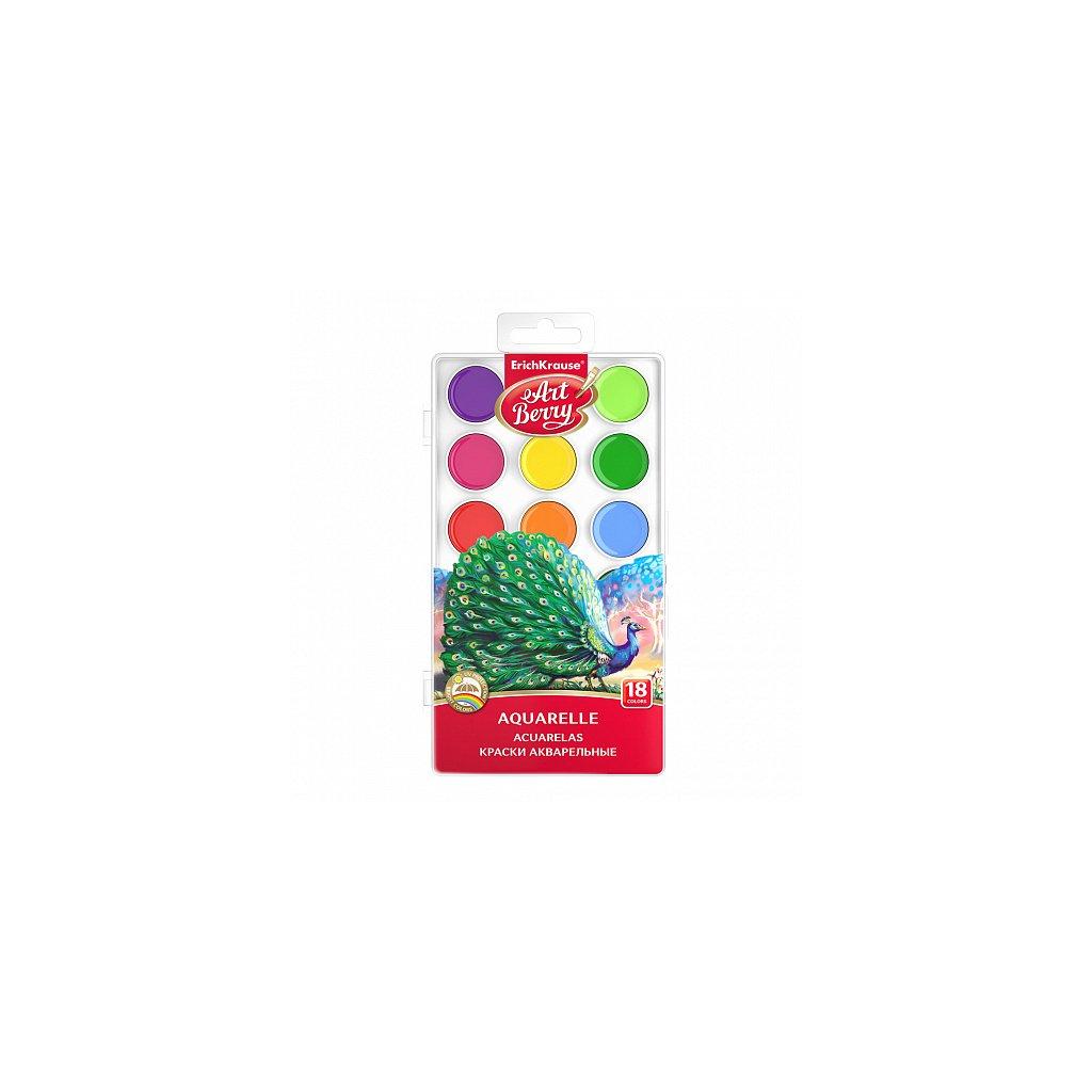 Vodové barvy ERICH KRAUSE ArtBerry® 18 barev, UV ochrana proti vyblednutí