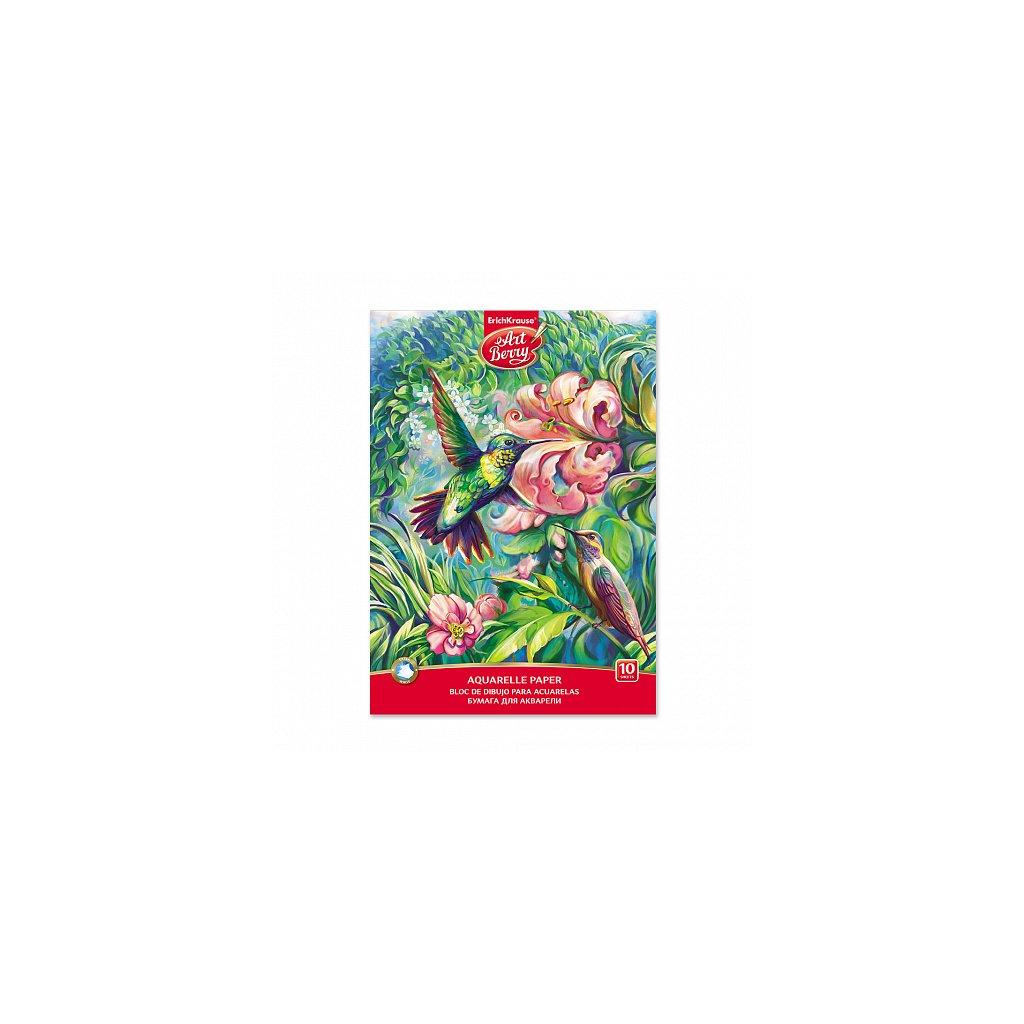 Akvarelový lepený blok/skicák A4 ERICH KRAUSE ArtBerry® Colibri, 10 listů