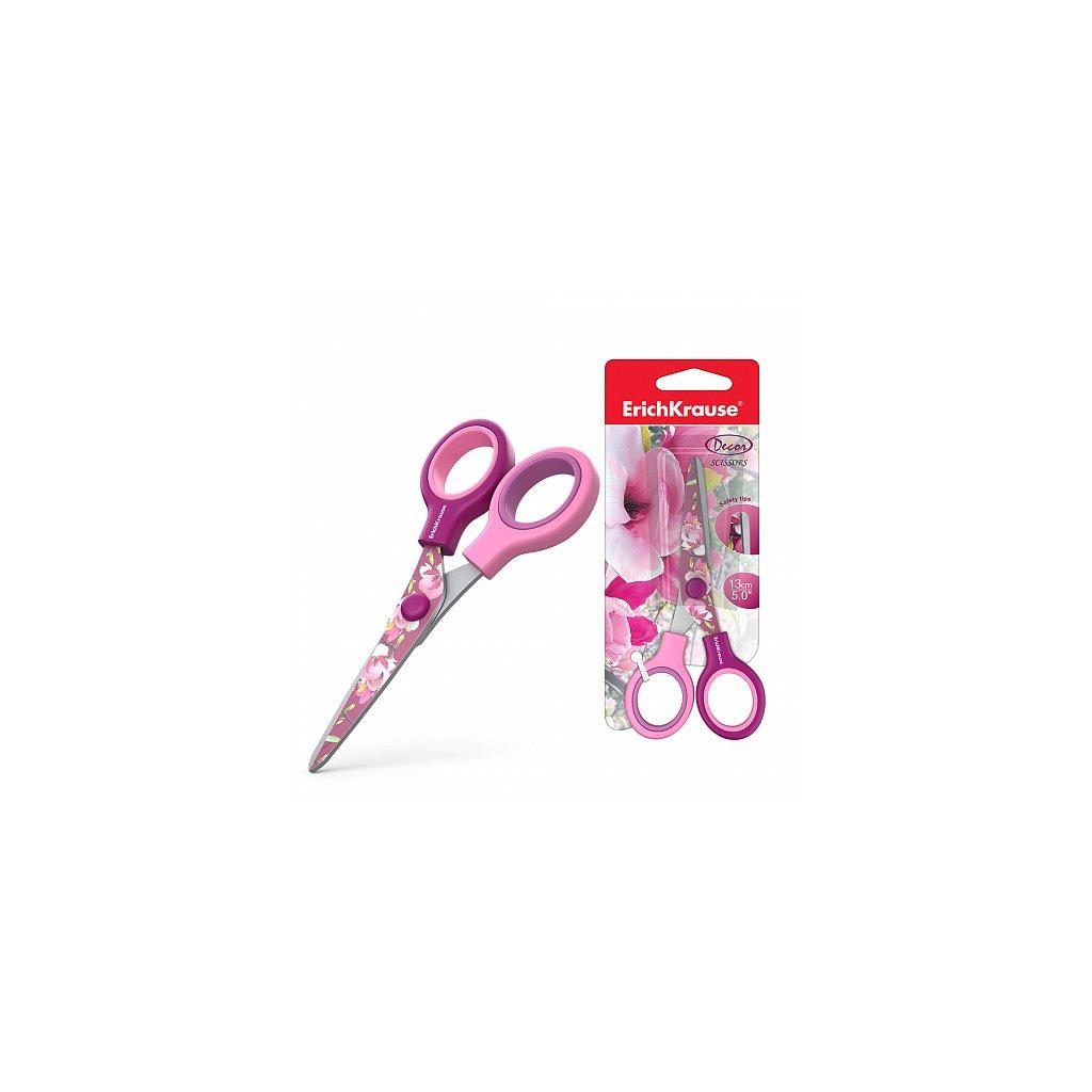 Nůžky ErichKrause® Junior Decor Magnolia 13 cm (blistr 1 ks)
