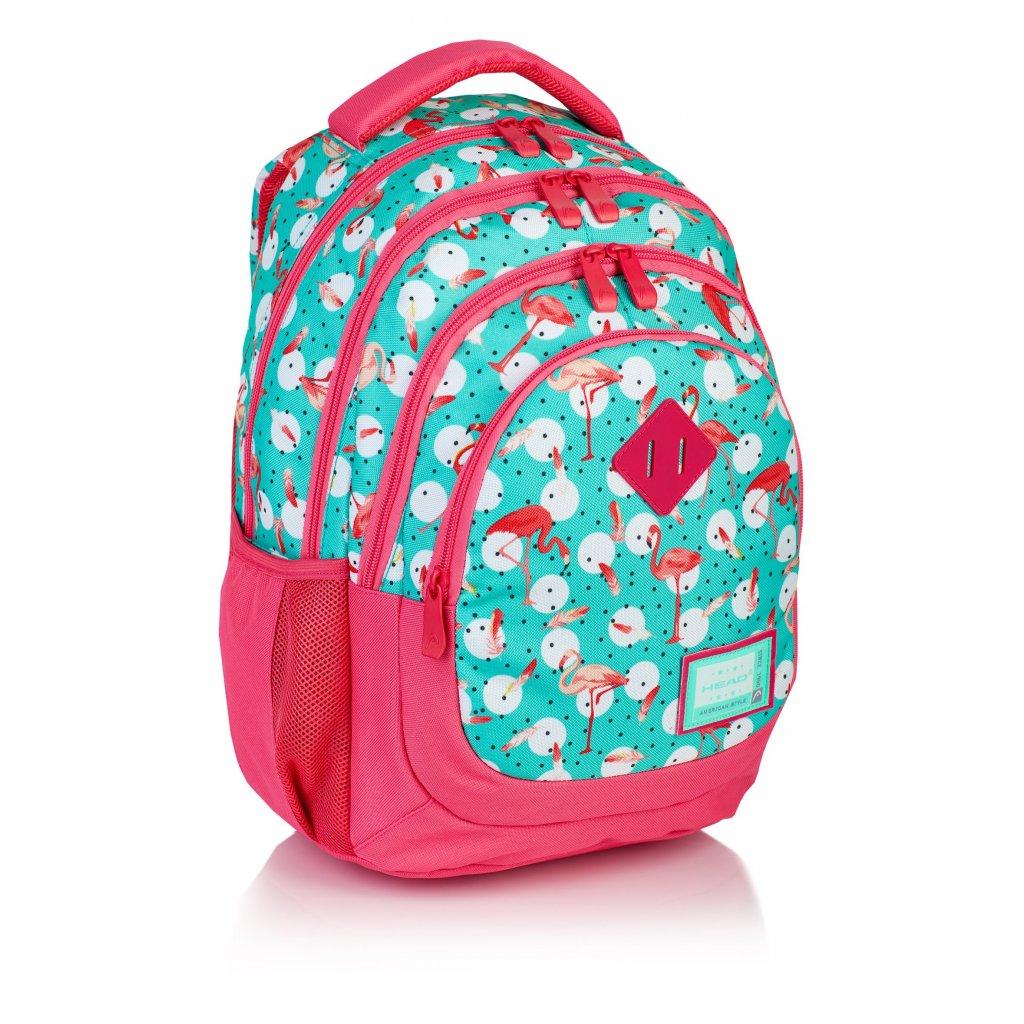 Čtyřkomorový školní batoh HD-83 Head 2 Flamingo