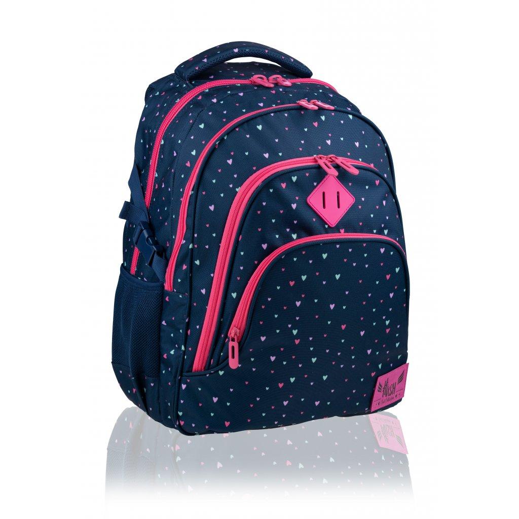 Tříkomorový školní batoh Hash Sweetheart