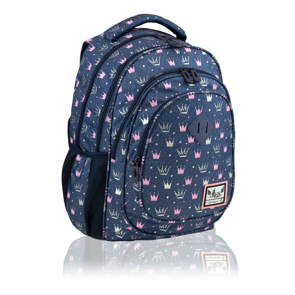 Čtyřkomorový školní batoh Hash Princess