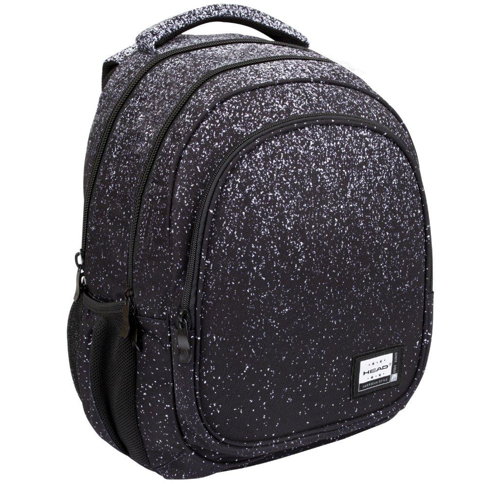 Tříkomorový školní batoh HEAD - BLACK DUST