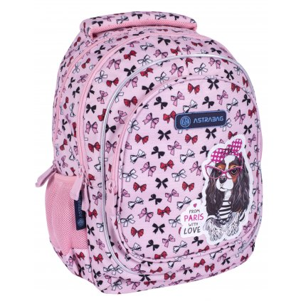 Školní batoh AB330, SWEET DOG WITH BOWS