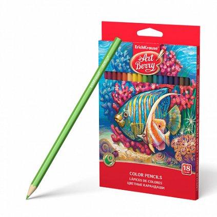 Šestihranné pastelky ERICH KRAUSE ArtBerry® 18 barev