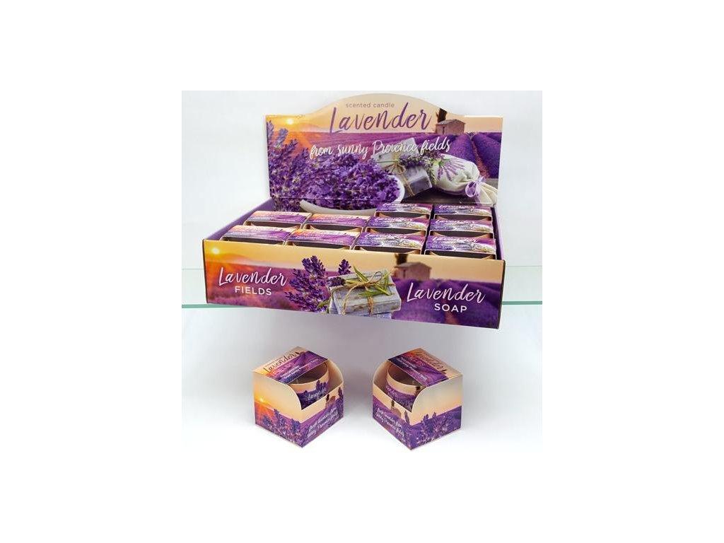 Svíčka ve skle levandule - Lavender Fields