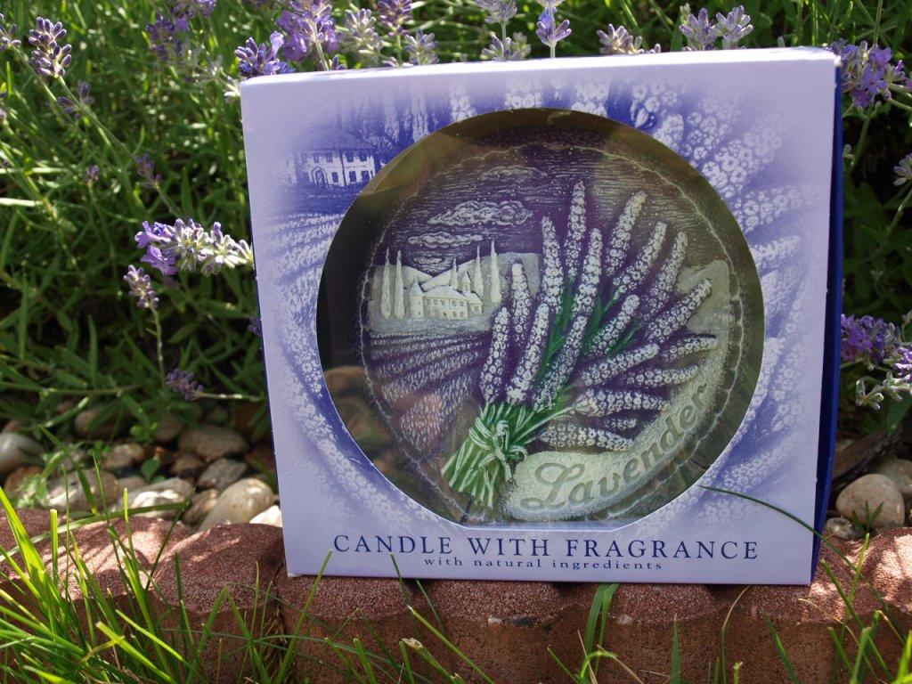 Levandulová svíčka disk