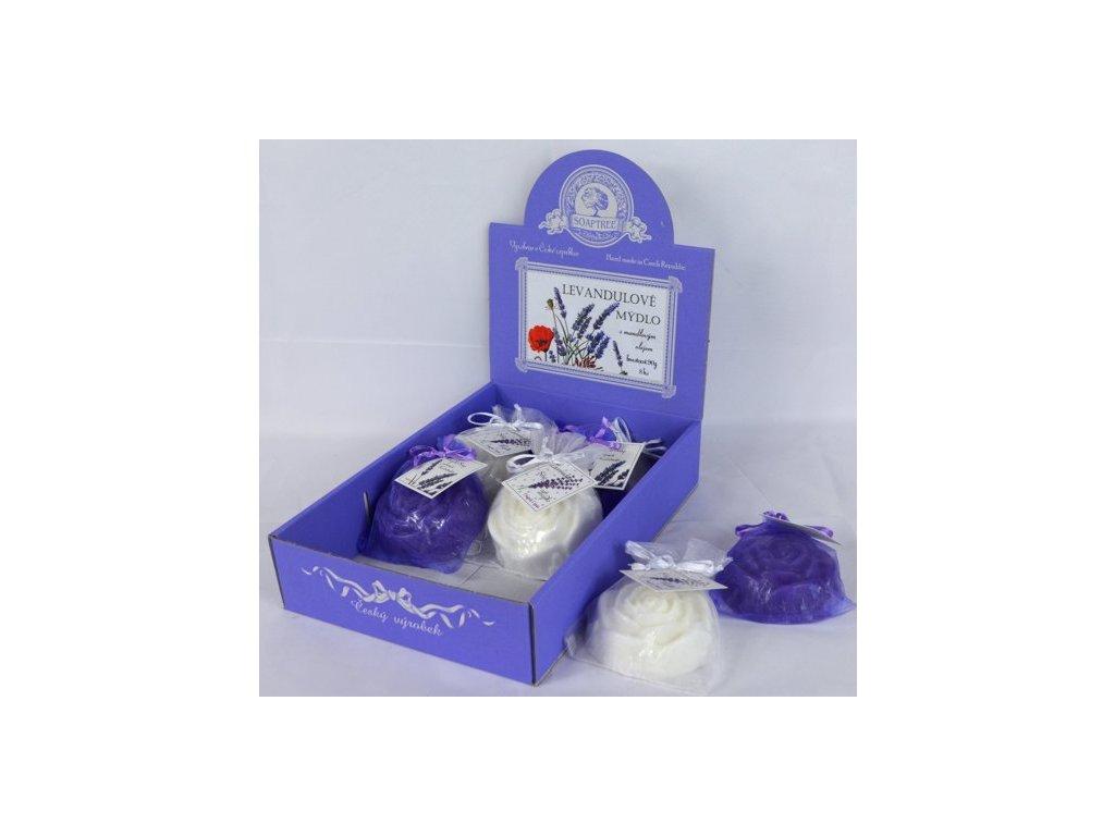 Mýdlo levandulové květ růže 90g