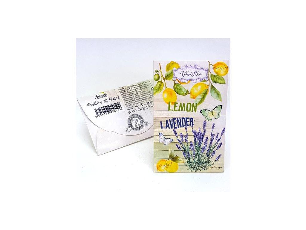 Přírodní mýdlové vonítko do prádla levandule a citron